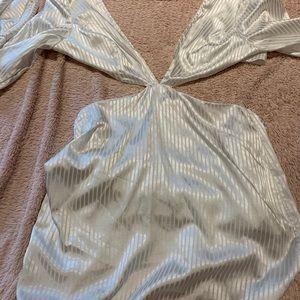 White cutout dress